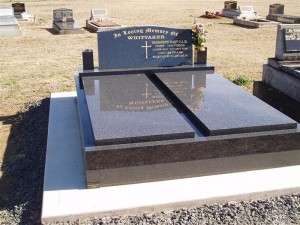 Double Grey Polished Monument