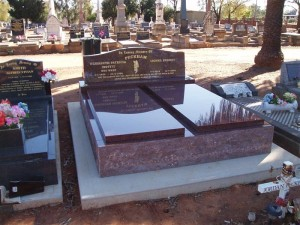 Double Red Polished Monument