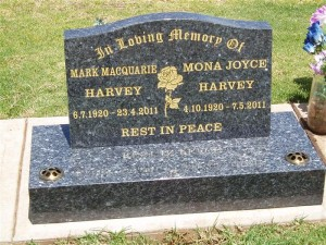 Grey Headstone Dubbo