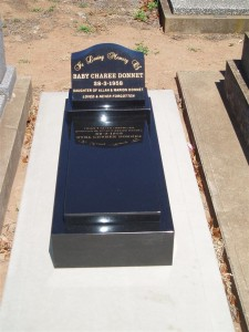 Single black Polished Monument
