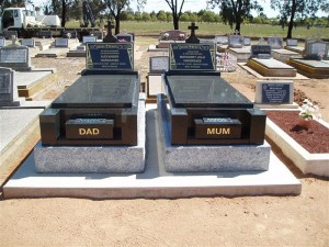 Double Polished Black Monument Dubbo