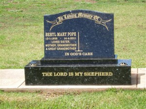 Twin Black Polished Headstone Dubbo
