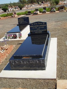 Single Black Stone Monument Dubbo