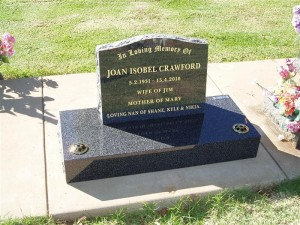 Grey Polished Headstone Dubbo