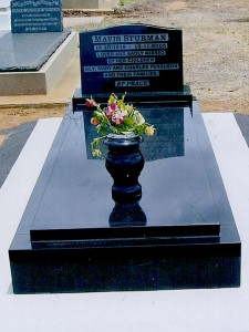 Single Polished Dark Stone Monument Dubbo